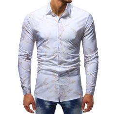 Mens Floral Printed Long Sleeve Shirt-US$24.62