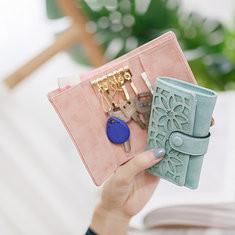 Women Faux Leather Multifunctional Wallet Key Bag Card Holde-RM48.40