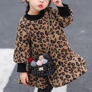 Leopard Print Girls Ruffles Dress For 2-9Y -US$27.99