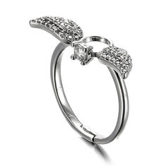 JASSY Sweet Sterling Silver Angel Wings Ring-US$20.78