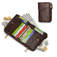 Bifold Genuine Leather 12 Card Slot Wallet