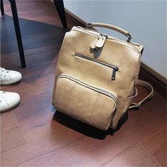 Women Faux Leather Wild Shoulder Bag Backpack School Bag-RM114.23