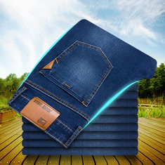 Straight Slim Cotton Jeans-US$27.92