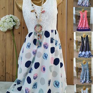 Short Sleeve Lace Dress -US$22.40
