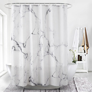Marble Surface Pattern Shower Curtain -US$27.80