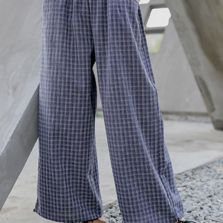 RM187.02 -Plaid Wide Leg Pants