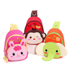 Kids Lovely Cute Bags Cartoon Elegant Rabbit Monkey Chest Bags Shoulder Bags -US$12.70