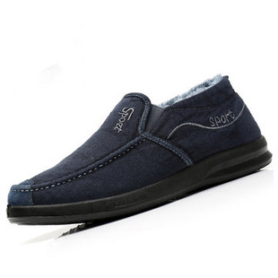 Men Canvas Slip On Warm Casual Shoes -US$23.09