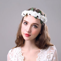 Bride Flower Headband Wreath-RM49.21