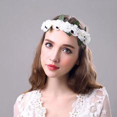 Bride Flower Headband Wreath-RM49.21