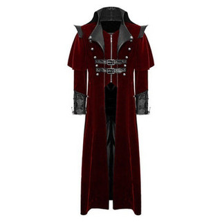 RM326.78-Vintage Medieval Gothic Cosplay Vampire Trench C