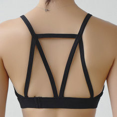 Shockproof Hollow Strappy Back Bras-RM85.34