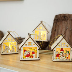 Christmas Wooden Lamps-US$8.00