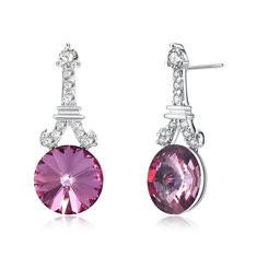 925 Silver Crystal Dangle Earrings-US$29.69