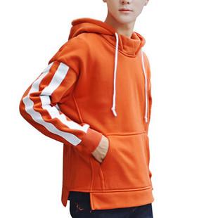 Stylish Striped Patchwork Sport Hoodies