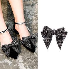 Full Rhinestones Bowknot Shoes DIY Jewelry-US$15.83