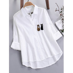 Solid Color Plaid Polka Dot Shirt-RM98.79