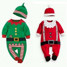 Christmas Party Baby Romper For 6-36M