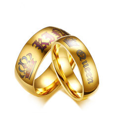 Luxury Gold Couple Rings -US$6.33