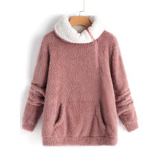 Fleece High Neck Sweatshirt-RM146.07