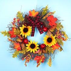 Sunflower Maple Wreath-US$28.00