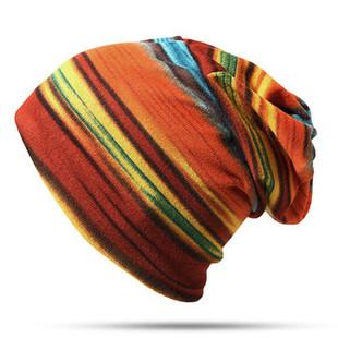 Women Stripe Dual-use Beanie Outdoor Wind-RM26.99