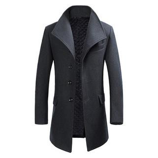 RM338.46-Winter Gentlemanlike Woolen Trench Coat