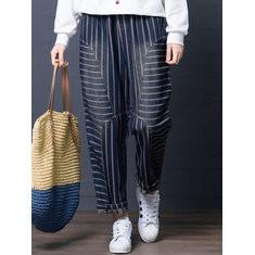 Striped Patchwork Harem Pants -RM158.70