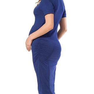 RM89.22 - Soft Cotton Maternity O-Neck Dress