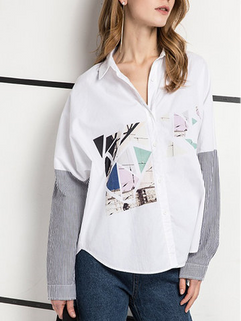 Striped Long Sleeve Shirt -RM136.98