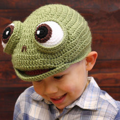 Frog Kid Knitted Hat For 2Y-6Y-US$13.00
