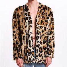Leopard Printing Faux Fur Casual Jakcet-US$37.29