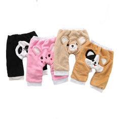 Fleece Warm Baby Long Pants For 6-24M