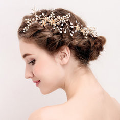 Elegant Branch Gold Hair Clip-US$24.59