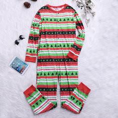 Christmas Tree Printed Family Matching Pajamas  -US$25.99
