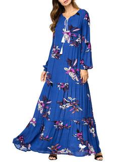 Floral Printed Maxi Dresses -US$58.00