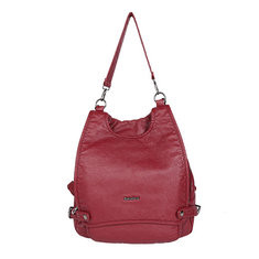 Women Multi-Pockets Solid Backpack Crossbody Bag-RM190.71