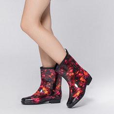 Waterproof Low Heel Garden Rain Boots-RM118.33