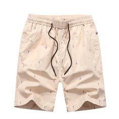 Printed Elastic Waist Board Shorts-US$13.43