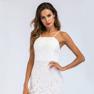 Sexy Lace Backless Mini Dresses -US$28.65