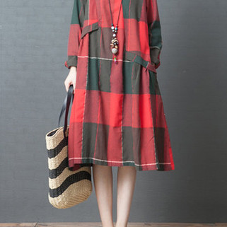 RM148.72 -Casual Plaid Print Dress
