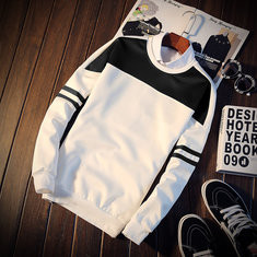 Patchwork O-neck Slim Fit Sweatshirt -US$18.38