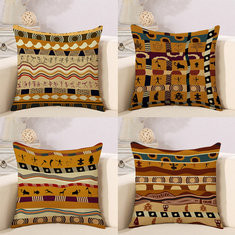 African National Style Stripe Cotton Linen Cushion Cover-RM5