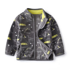 Fleece Printed Boys Coats For 2Y-9Y-US$28.99