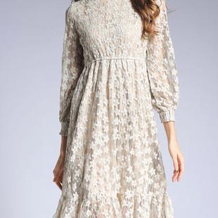 TangJie Floral Lace Dresses -US$54.62