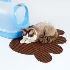 Doglemi Paw Shape Pet Cat Non slip Litter Mat-US$13.55