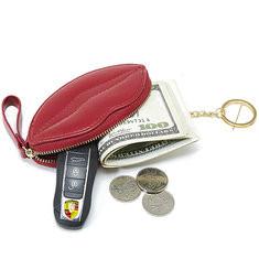 Women Shopping Lip Shape Coin Bag Small Purse-RM42.37