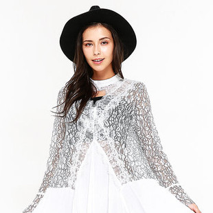 Lace Women Flare Sleeve Patchwork Dresses -US$40.07