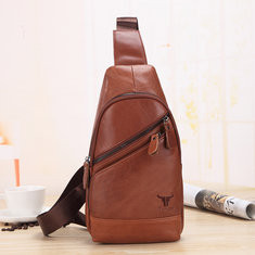 Men Genuine Leather Chest Bag Cowhide Casual Bag-US$43.99