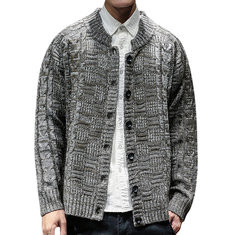 Mens Knit Loose Breathable Cardigan-US$33.67